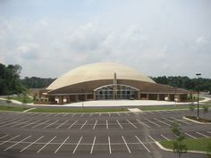 The world's largest monolithic dome, Faith Chapel Christian Center in Alabama