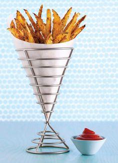 Crispy Seasoned Oven Fries from Epicurious.com #myplate #veggies