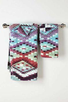 Aztec towels!