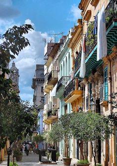 Beautiful street scene in old Havana, Cuba