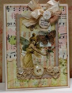 Card using the Butterfly Garden Collection (Gypsy Chick for Pink Paislee).