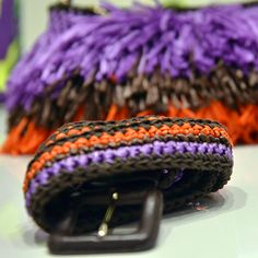 #MMissoni Accessories | Bicolor crochet #raffia effect belt | Summer 2014 Collection