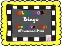 Color Word Bingo from 2Preschool Pals on TeachersNotebook.com -  (8 pages)  - Bingo game teaches the color words.