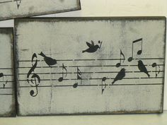 MUSIC TEACHER GIFT / Birds sheet music sign / by SophiesCottage, $15.95