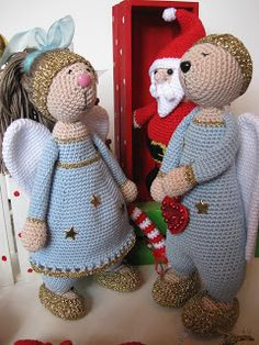 The angels Dolf and Dolfientje. Pattern by Hip Haakwerk (not free)