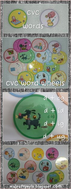 Using a Word Wheels for Phonics! #cvc #phonics #literacy Download a free sample! $