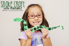 { Printable Snake Craft }