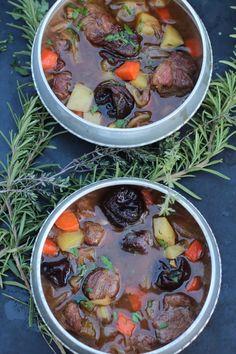 Lamb and plum stew...