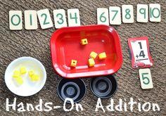 In Lieu of Preschool: Simple Math: Hands-On Addition