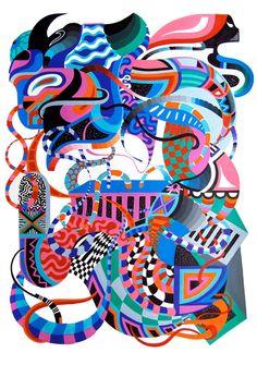 Juxtapoz Magazine - Duda Lanna's Psychedelic Geometry