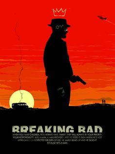 Breaking Bad Heisenberg 18x24 breaking bad by bigbadrobot