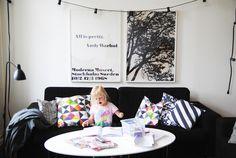 Via AprillAprill | Black and White | Warhol Print | Granit String Lights | Nordic Scandinavian