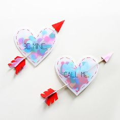Make these confetti-filled love hearts for Valentine's Day. Step-by-step tutorial with full photos.