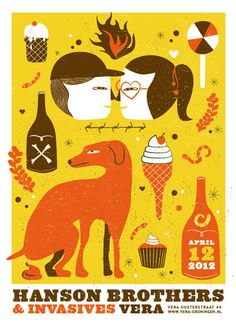 gigposter - love, dogs and candy