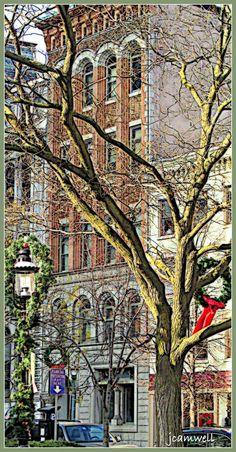 Hanover Square, Syracuse, NY at Christmas time