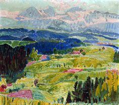 Landschaft mit Eiger, Mönch und Jungfrau - Cuno Amiet 1925