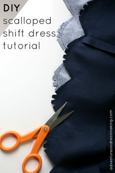 DIY J.Crew Factory scalloped shift dress tutorial!
