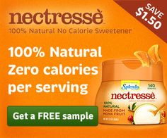 FREE sample of Nectresse, plus coupon!