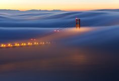the american photo magazine 2011 landscape image of the year, from javier acosta - great sense of motion! 'Under and Alone - Golden Gate Bridge, San Francisco, CA' http://www.javieracostaphotography.com/