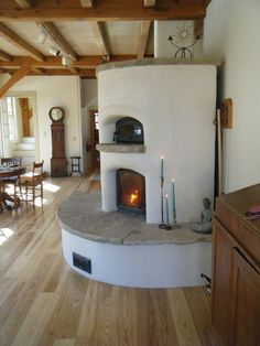 Another lovely stucco masonry heater
