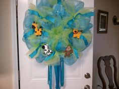 Made to order Baby girl or Baby Boy wreath.. $75.00, via Etsy.