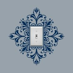 Stencil around light switch cover. Love it!