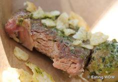 2012 Epcot Food & Wine Australia: Grilled Lamb Chop with Mint Pesto and Potato Crunchies