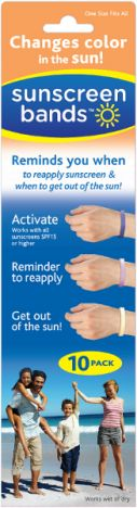 Sunscreen Bands... It changes color to let you know when you need to put on more sunscreen