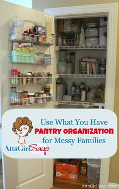 use what you have pantry organization for messy families by AttaGirlSays.com