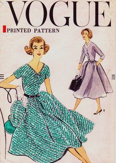 Vintage 1950s Vogue Sewing Pattern 9379 Womens One by CloesCloset, $20.00