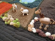 Amelie's Play Mat Farm (5) by Phizzychick!, via Flickr