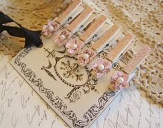 Clothes pins - minis with flowers