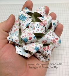 making a package bow with designer paper