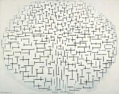 Composition 10 in black and white - Piet Mondriaan (1872 - 1944)    oil on canvas