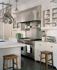 Amazing vintage style kitchen, new house in Los Angeles, California | Ferguson & Shamamian architects