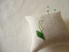 Pretty and simple way to embroider lily of the valley