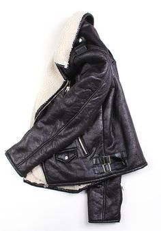 leather jacket, great lining