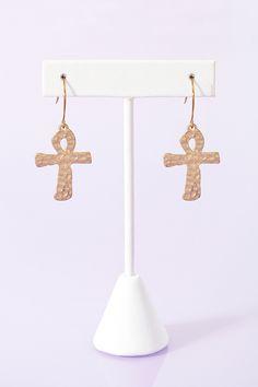 Ankh Cross Earrings