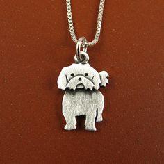 Tiny Shih Tzu necklace by StickManJewelry on Etsy, $30.00