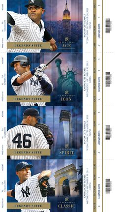2013 New York Yankees Premium Season Tickets by Justin Wright, via Behance