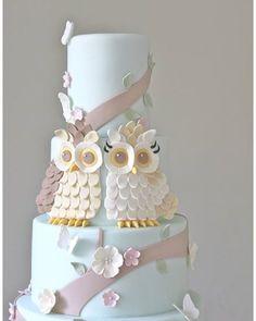 Winding Tree Owl Themed Cake