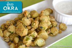 Fried Okra #Recipe #glutenfree