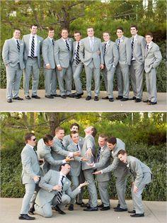 gray groomsman ideas