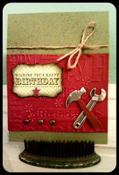 Happy Birthday {for Him} by @Christina Childress Childress Childress Childress Childress Childress Childress & Rivalto Gonzalez with Stampin' Up products.