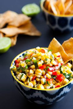 Roasted Corn Salsa / {contest! >> http://www.sunshinesweetcorn.com/home/livin-the-sweet-life-pinterest-contest/?utm_source=blogger_medium=outreach_campaign=sweetlife } #sweetlife