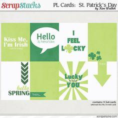 #papercraft #scrapbook #ProjectLife Free #StPatrick'sDay Cards