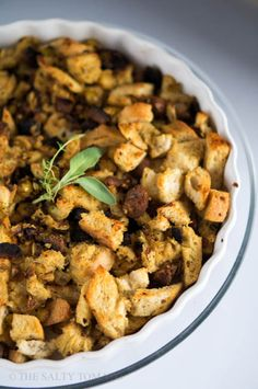 The Salty Tomato   Sourdough, Sausage, Apple and Sage Vegan Stuffing – A Flexitarian Thanksgiving Part 3   http://the-salty-tomato.com