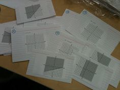 The Secondary Classroom can be fun too.....: Match the Graph - Good use of Kuta to help make a matching game!