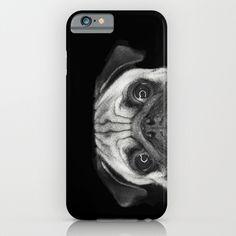Peeping Pug iPhone case