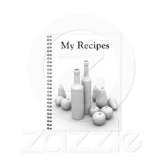 Notebook for recipes from Zazzle.com